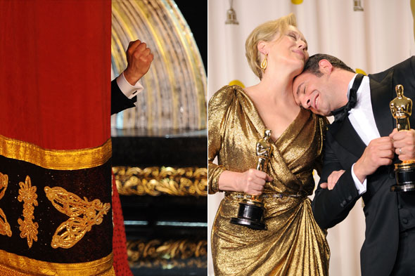 Oscars 2012: Thirteen pictures of Jean Dujardin having the best night EVER