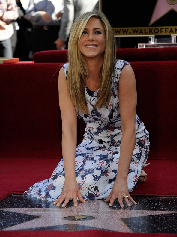 Jennifer Aniston is honoured with a star on the Hollywood Walk of Fame