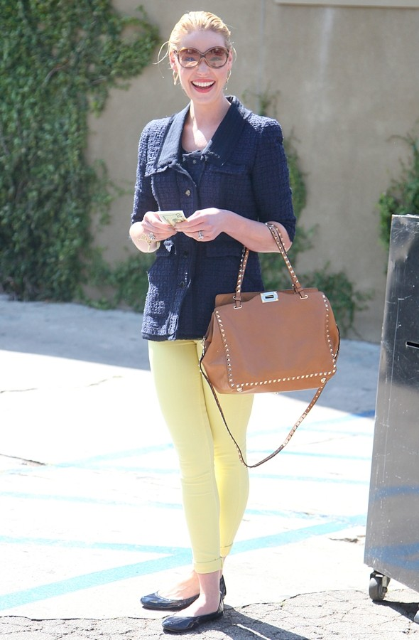 Hot or not: Katherine Heigl's bright yellow jeans