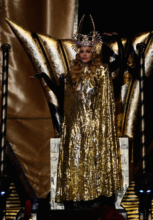 Madonna goes Roman cheerleader for Super Bowl Half Time Show