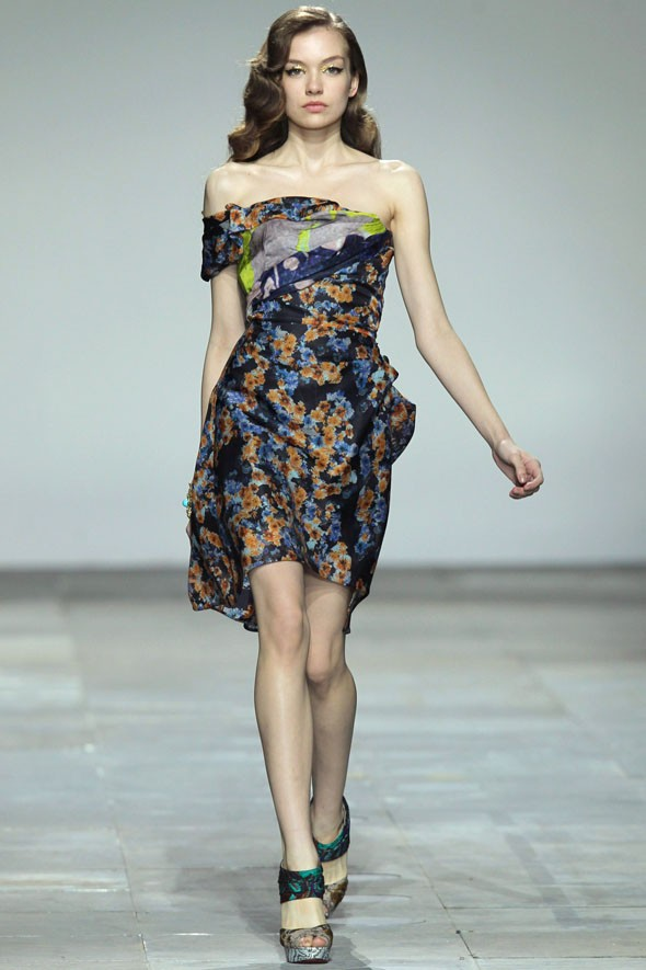 Finally! Michael Van Der Ham injects some glamour into LFW