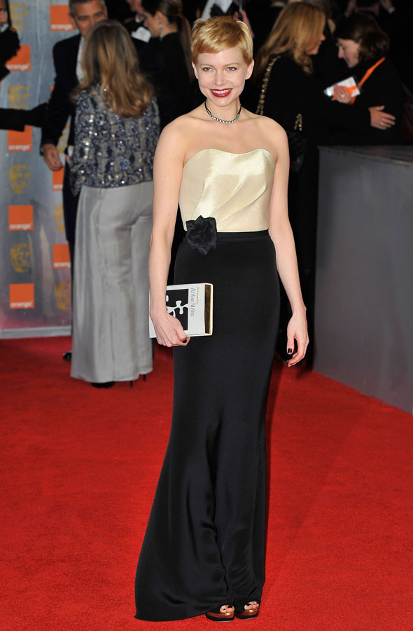 Michelle Williams wears H&M 2012 Baftas