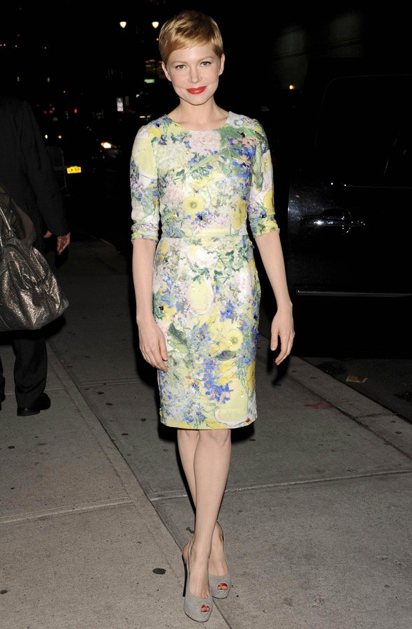 Michelle Williams in Erdem at The Late Show with David Letterman
