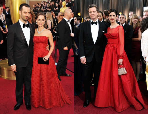 Style snaps? Stars narrowly avoid doubling up dresses at the Oscars