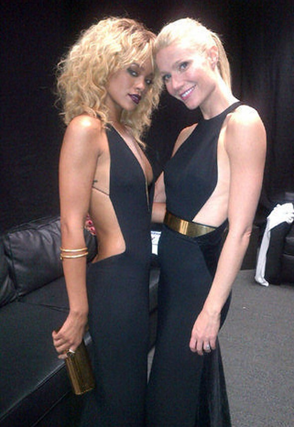 Style snap! Rihanna tweets pic with Gwyneth Paltrow looking like her fashion twin