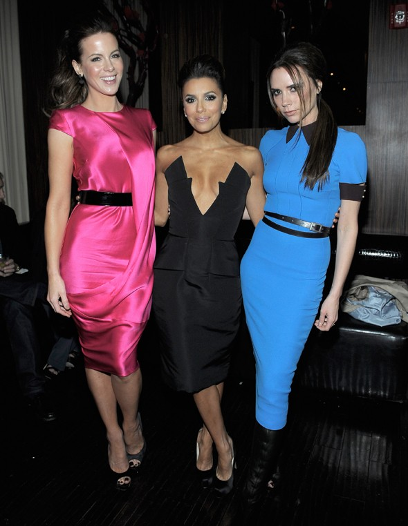 Victoria Beckham parties with Eva Longoria and Kate Beckinsale at charity night