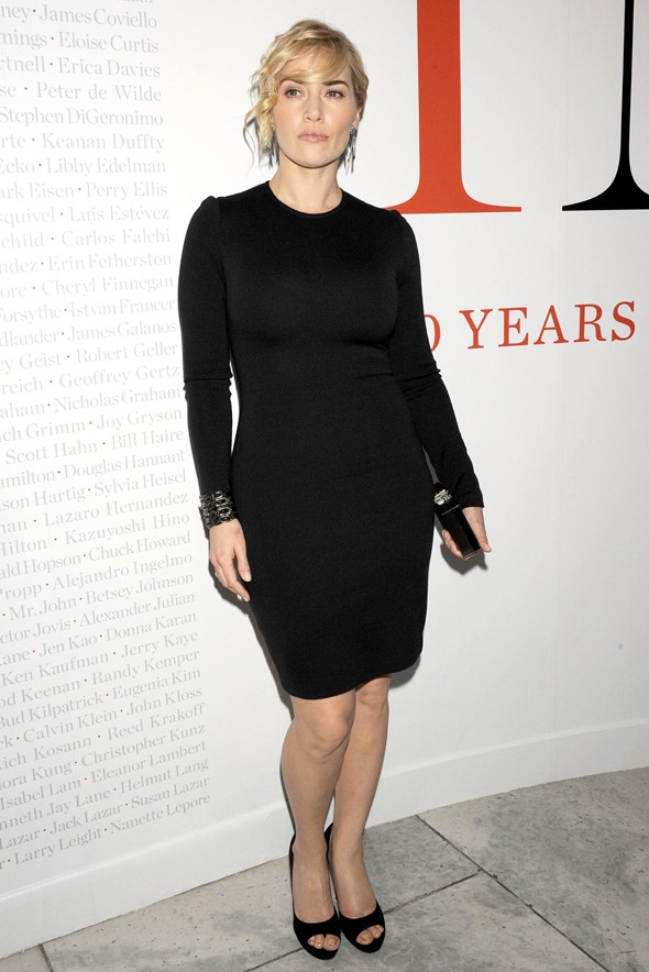 Making an Impact? Kate Winslet's classic black at CFDA show