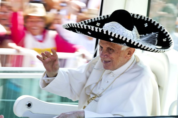 The Pope's stylish new hat - 'fab', 'drab' or 'so they didn't have it in white'?