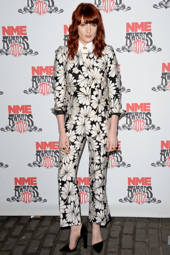 Hot or not: Florence Welch's floral suit at the NME Awards