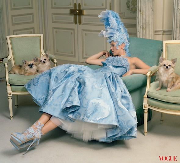 PICTURES: Kate Moss goes crazy for couture in gorgeous Vogue shoot