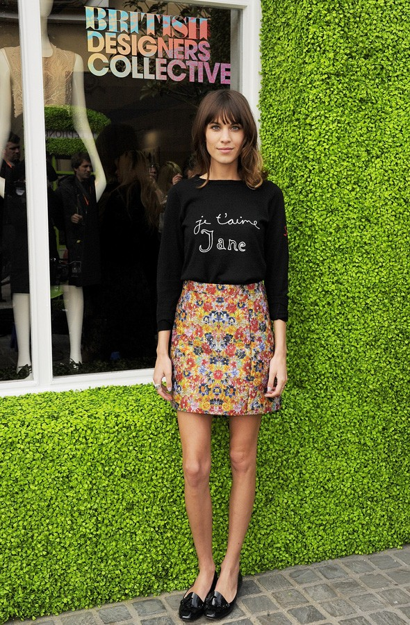 Alexa Chung at Bicester Village for the British Designers Collective launch