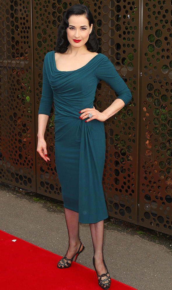 Dita Von Teese wows Down Under with and without her clothes
