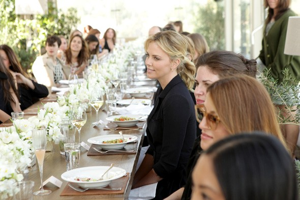 Charlize Theron at the Hollywood Reporter's luncheon