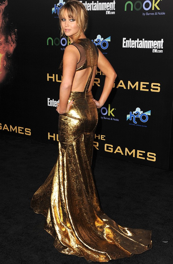 Jennifer Lawrence at the LA premiere of The Hunger Games