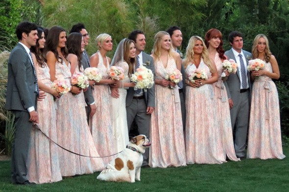 Jessica Simpson and Ashlee Simpson at friend's wedding
