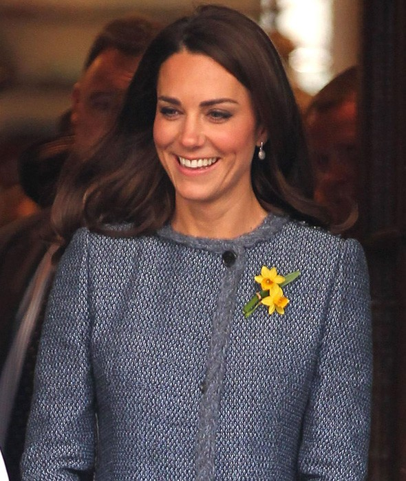 Kate Middleton at Fortnum and Mason earlier today