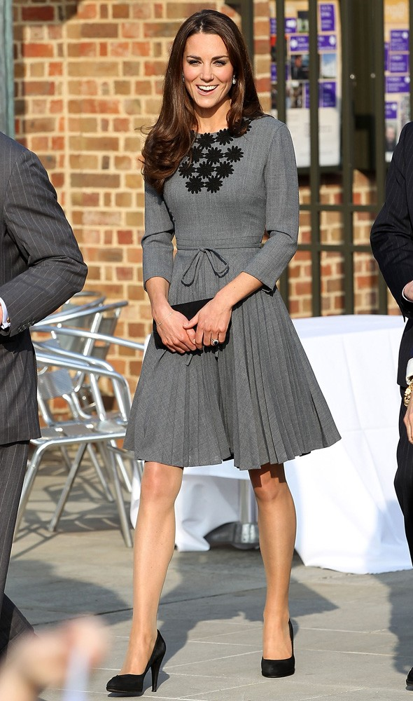 Kate Middleton arriving at the Dulwich Picture Gallery wearing Orla Kiely