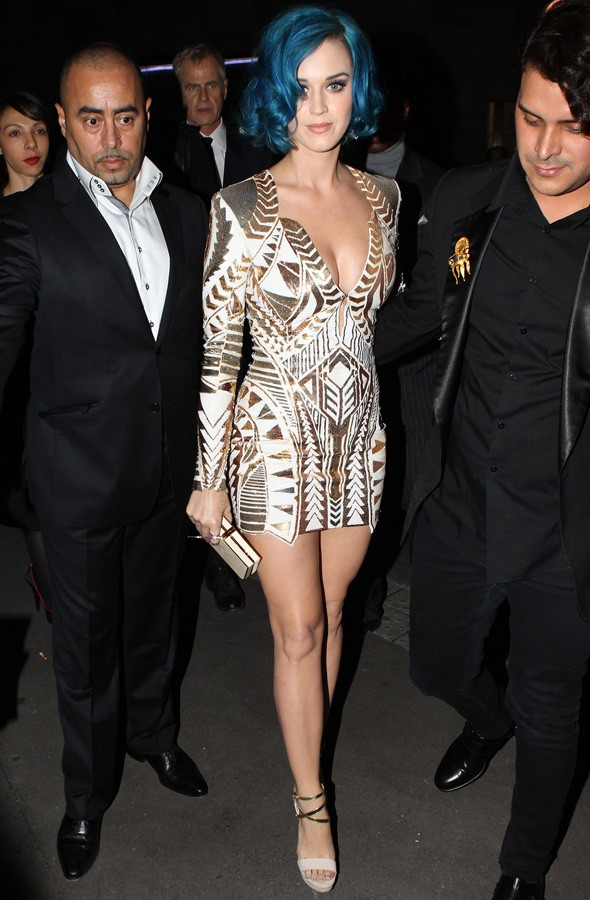 Katy Perry at the Karl Lagerfeld dinner in Paris