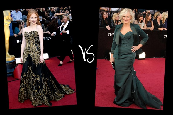 Queen of the red carpet 2012: Oscars bracket