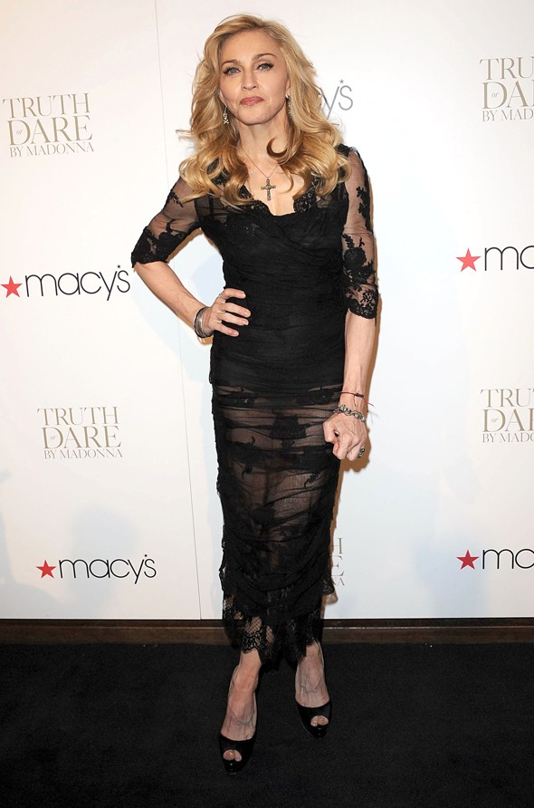 Madonna is a sheer material girl in see-through dress at fragrance launch