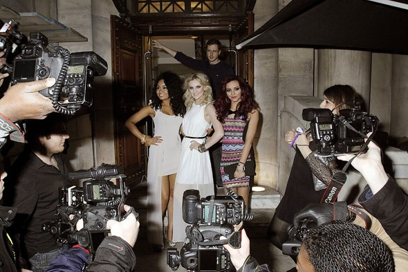 3/4 of Little Mix look cute for a night on the town - but who was missing?
