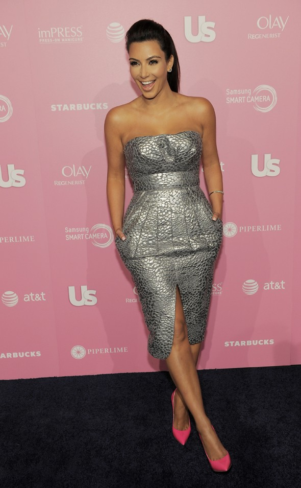 Hot Hollywood: Kim Kardashian is ready to party in high-shine silver dress