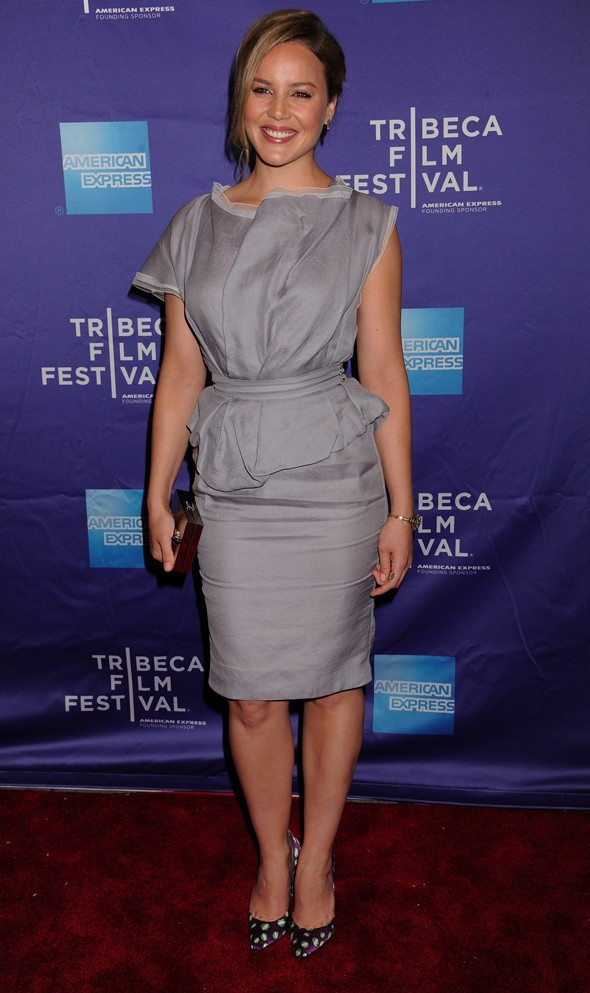Abbie Cornish is saved by polka dots at Tribeca Film Festival