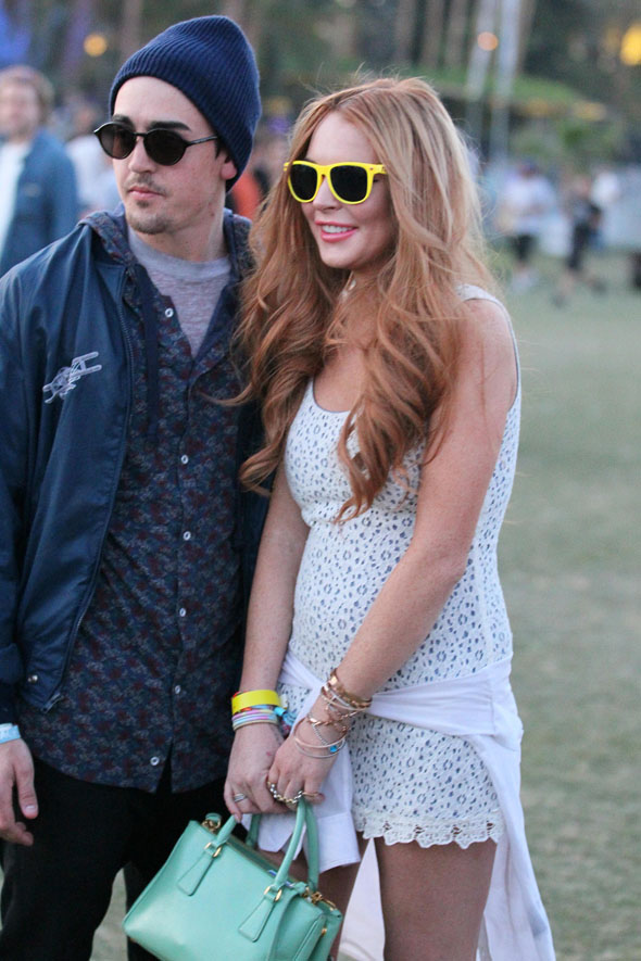 La Lohan, Coachella and in the most impractical festival footwear ever