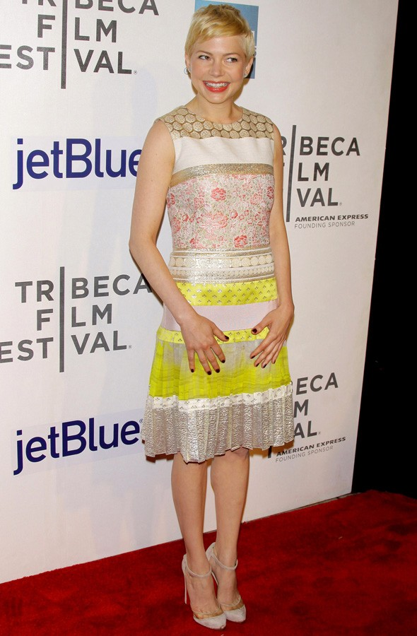 Michelle Williams at the Take This Waltz premiere during the Tribeca Film Festival
