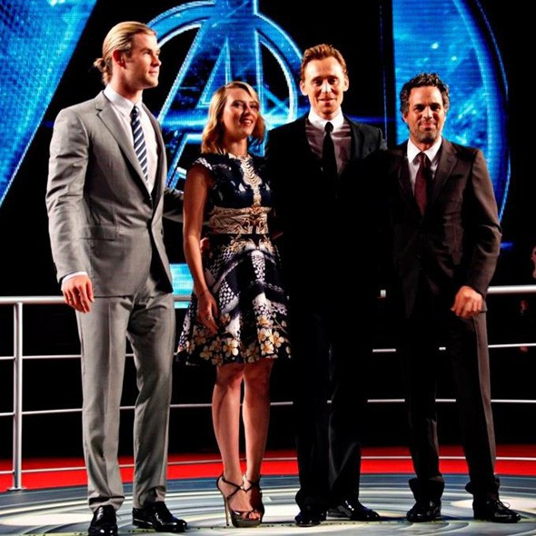 The Avengers premiere in Rome