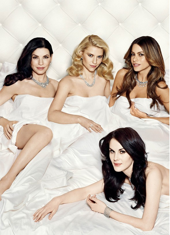 Vanity Fair cover with Michelle Dockery and Claire Danes