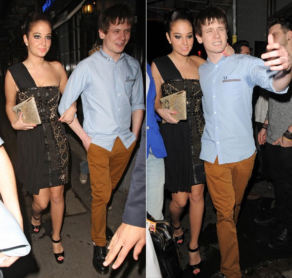 The sexiest woman in the world? Tulisa hits Mahiki in studded LBD