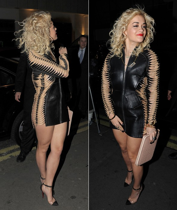Masterpiece or Disasterpiece: Rita Ora's slashed leather look