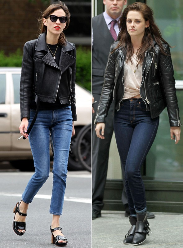 Alexa Chung and Kristen Stewart out and about in New York
