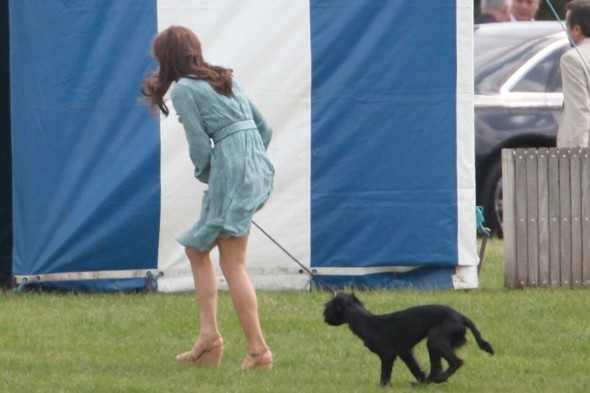 Duchess of Cambridge has a Marilyn Monroe moment at the polo