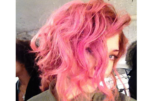 Who's the latest celebrity to try pink hair?