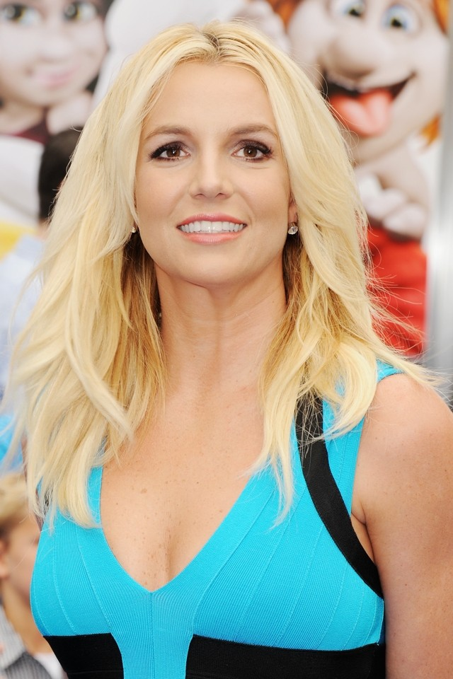 Singing The Blues! Britney Spears Wows In Bodycon Dress At Smurfs 2 LA Premiere