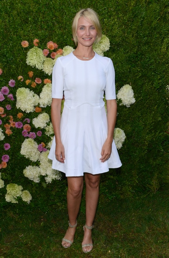 Diaz-ling: Cameron Wows In White Minidress In The Hamptons