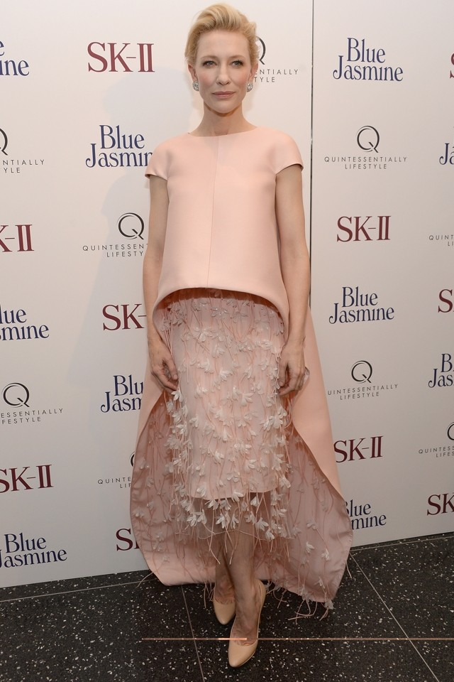 Caped Crusader: Cate Blanchett Goes Left Field At Blue Jasmine Premiere