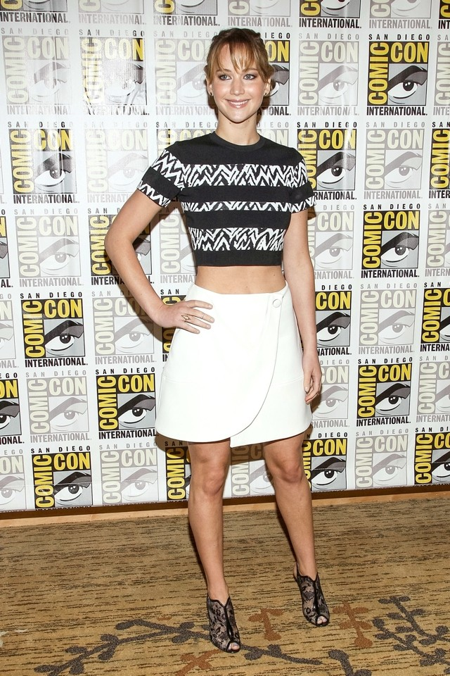 Jennifer Lawrence Dares To Bare In Crop Top And Mini Skirt