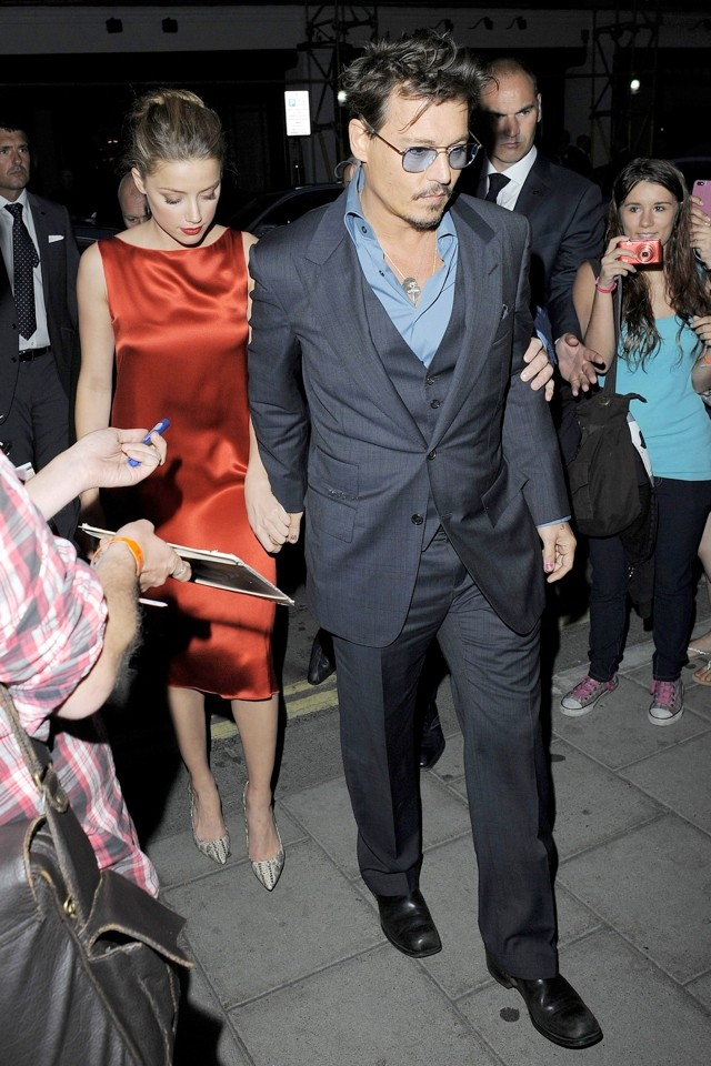 Date Night: Johnny Depp And Amber Heard Go Glam For Dinner In London
