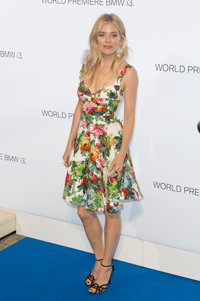 Oh, Sienna! Ms Miller Shows Everyone How To Do Florals At BMW Bash