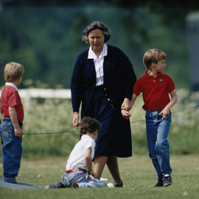 young prince william with nanny jessie webb