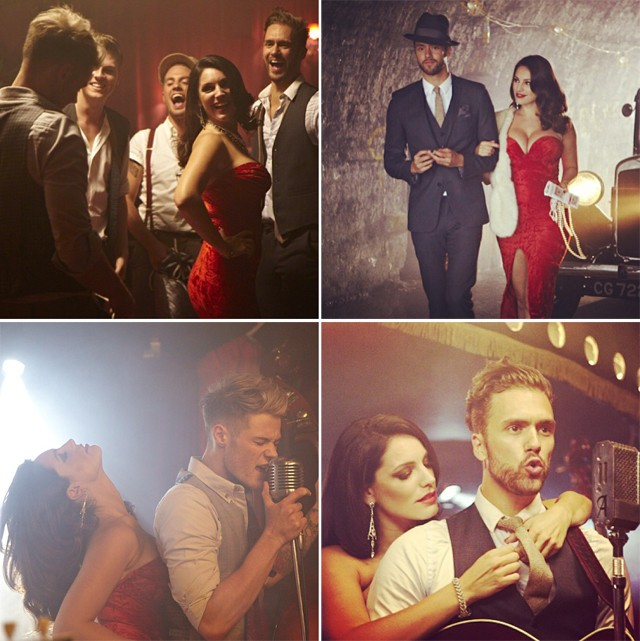 kelly brook with boy band lawson