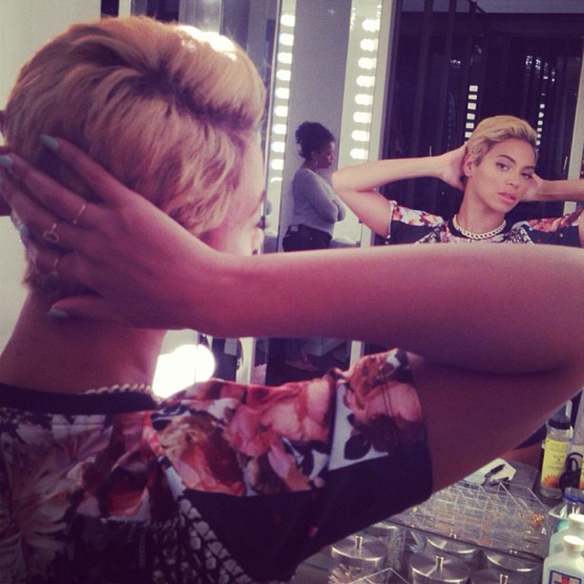 beyonce cuts off her hair