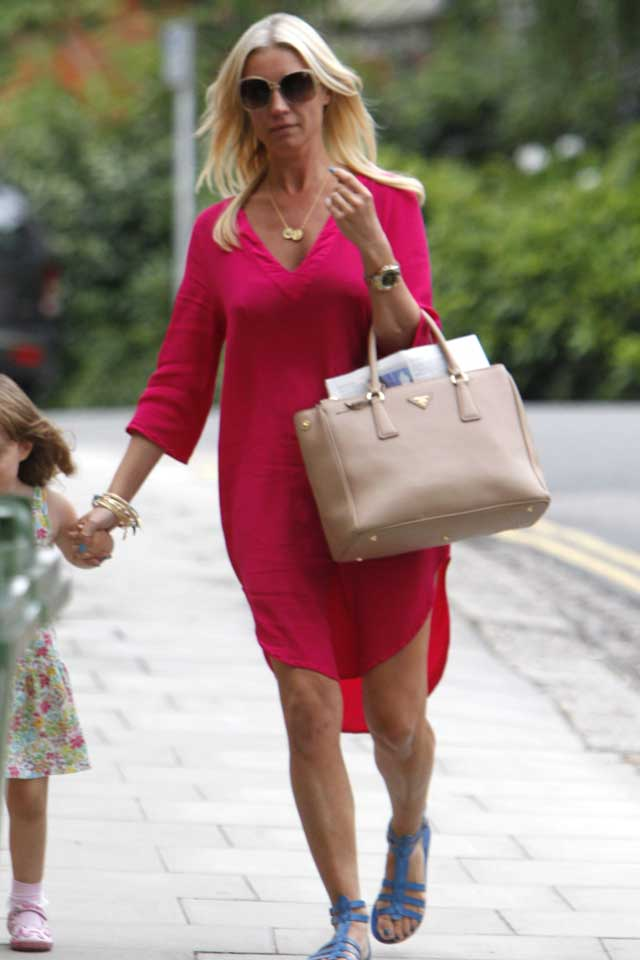 Denise Van Outen Wears Hot Pink For Day Out With Her Daughter Betsy