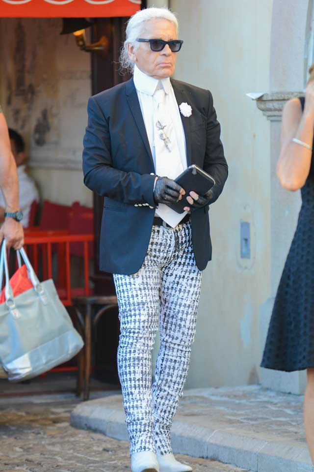 Can Karl Lagerfeld Wear Printed Skinny jeans? Of Course He Can