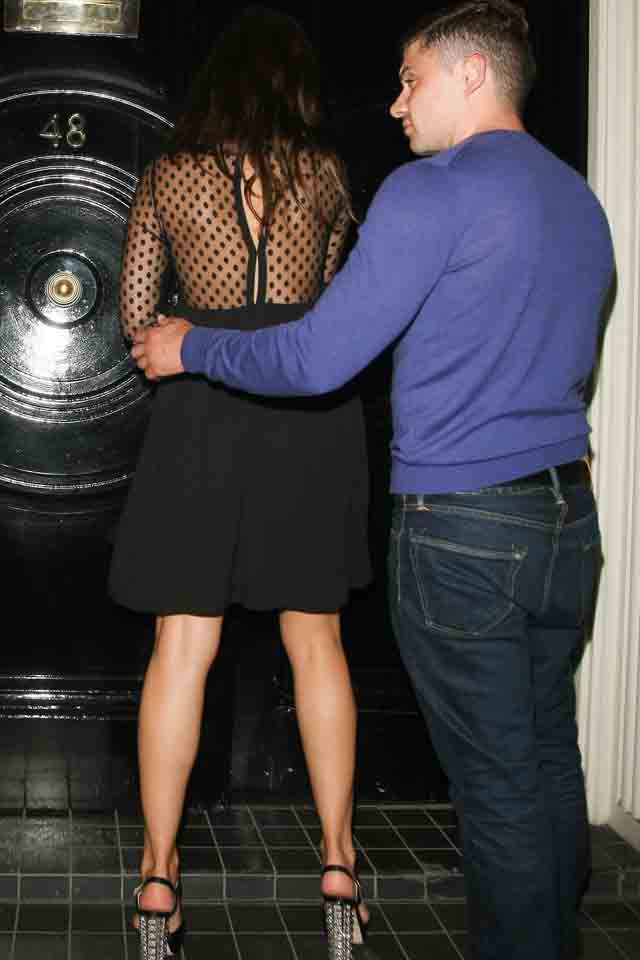 Kelly Brook Burns The Midnight Oil With Mystery Man In London