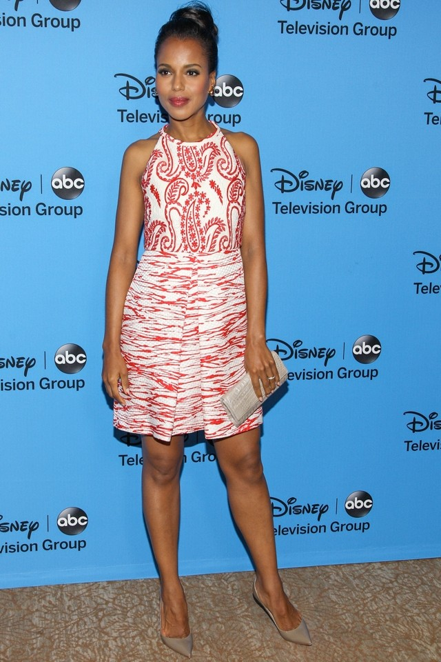 Kerry Washington Is A Vision In Giambattista Valli At Disney 2013 Summer TCA Tour
