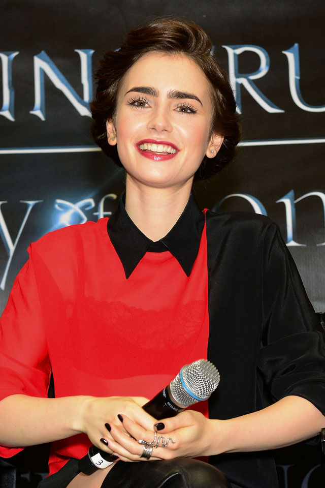 Lily Collins Channels Her Inner Vamp